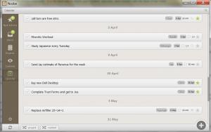 Nozbe Desktop For Windows - Calendar