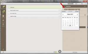Nozbe Desktop for Windows - Entering Tasks